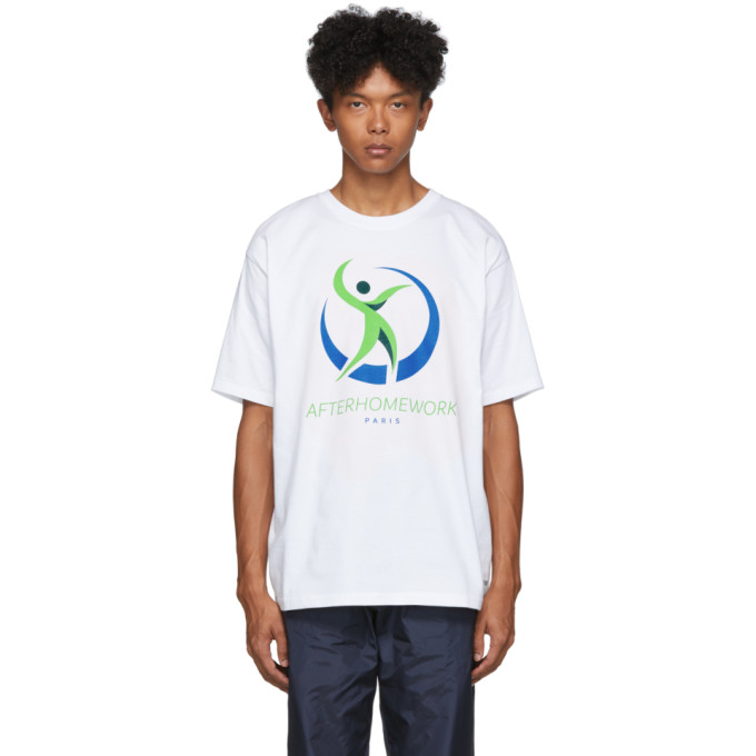 Afterhomework T-shirt blanc Health