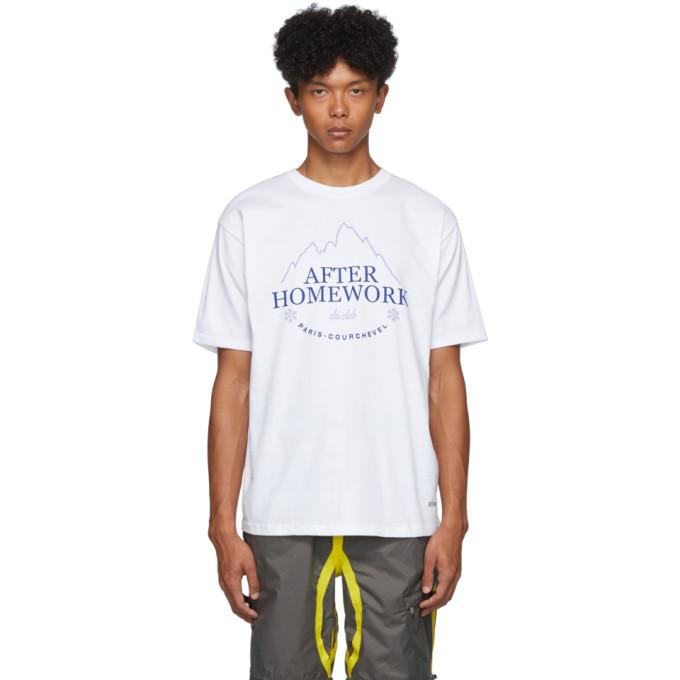 Afterhomework T-shirt blanc Shutter Stock Plus