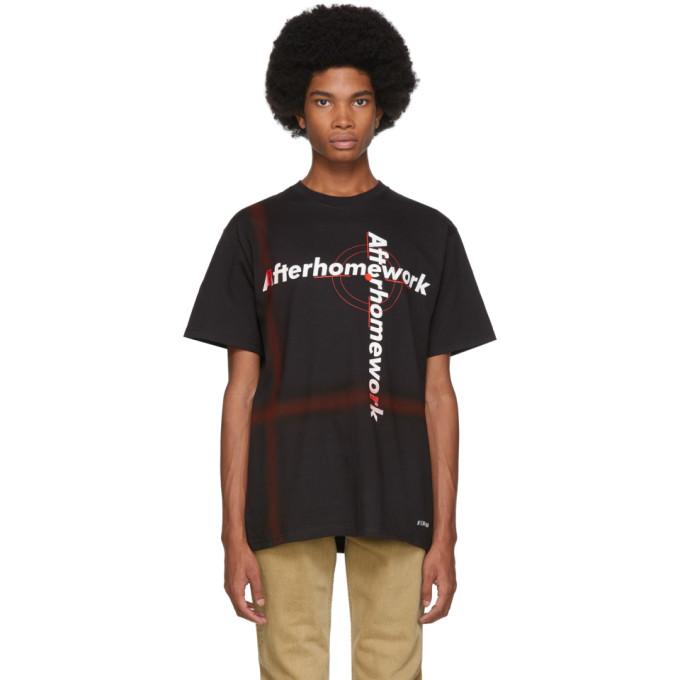 Afterhomework T-shirt a logo noir Tag