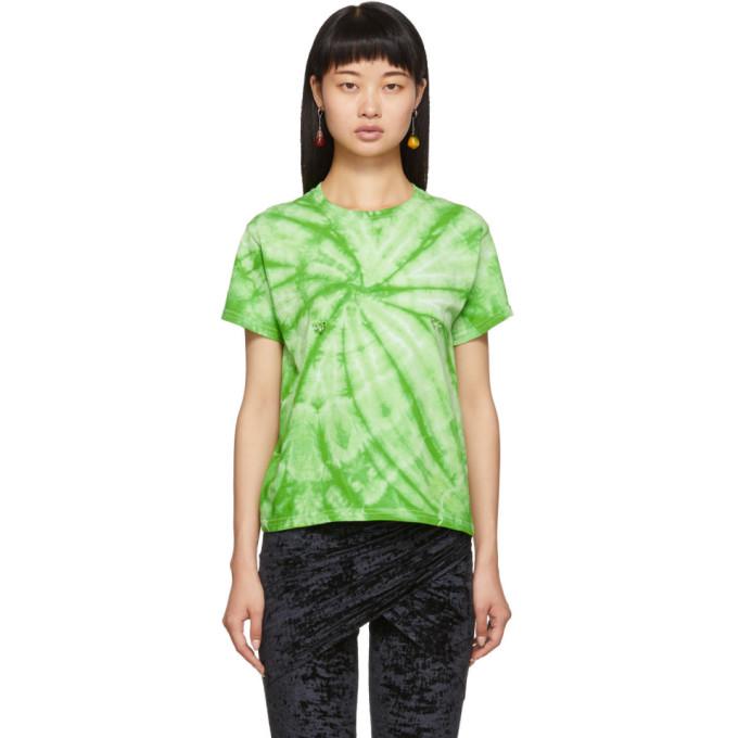 Collina Strada T-shirt a motif tie-dye vert Pierced