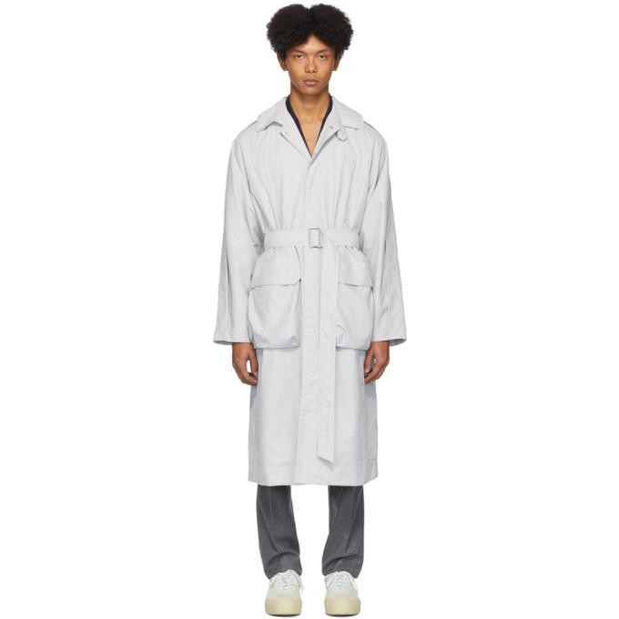 Deveaux New York Manteau en nylon gris Utility