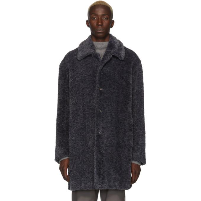 Deveaux New York Manteau en fourrure synthetique gris