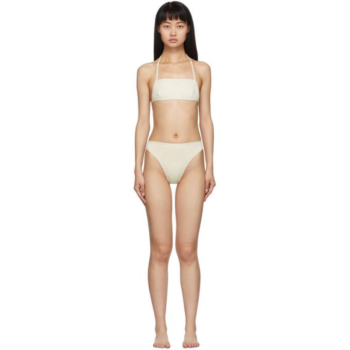 Rudi Gernreich Bikini blanc casse The Original Thong