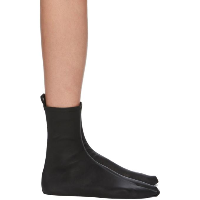 Jil Sander Black Nappa Stretch Sock Boots