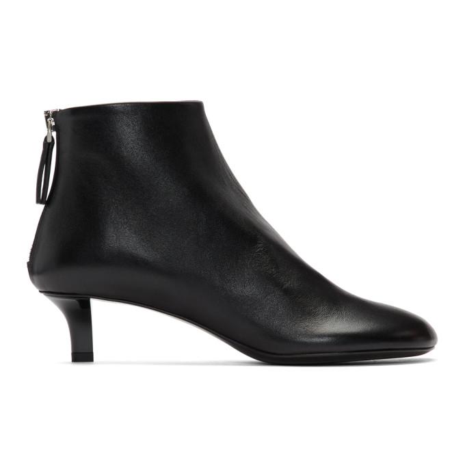 Jil Sander Black Leather Heeled Boots