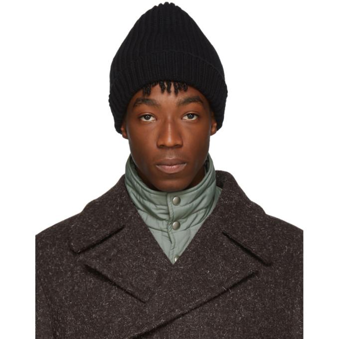 Jil Sander Bonnet en laine noir