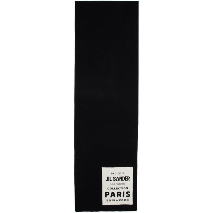 Jil Sander Foulard noir Flyer Artwork Patch