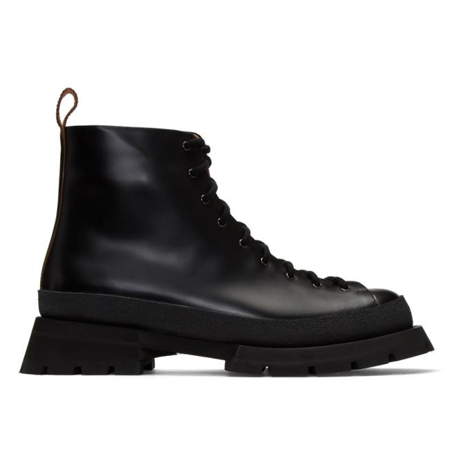 Jil Sander Black Antick Ankle Boots