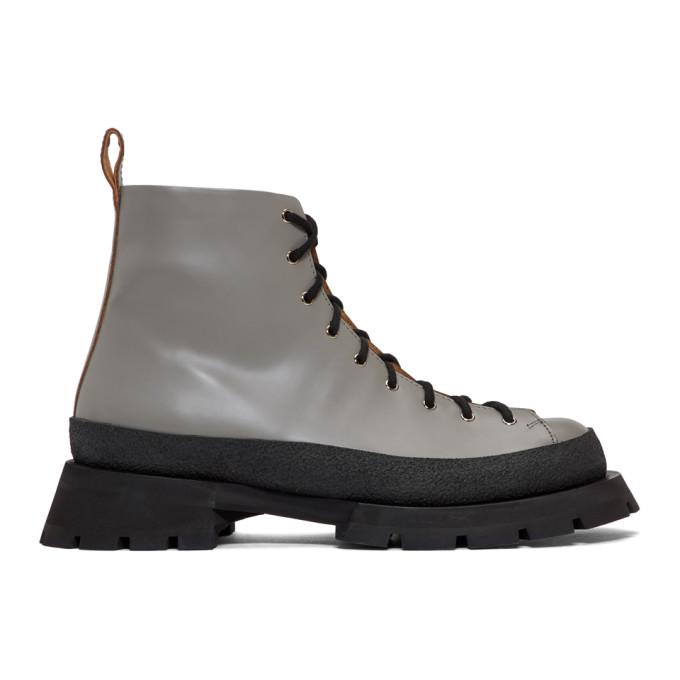 Jil Sander Grey Antick Ankle Boots