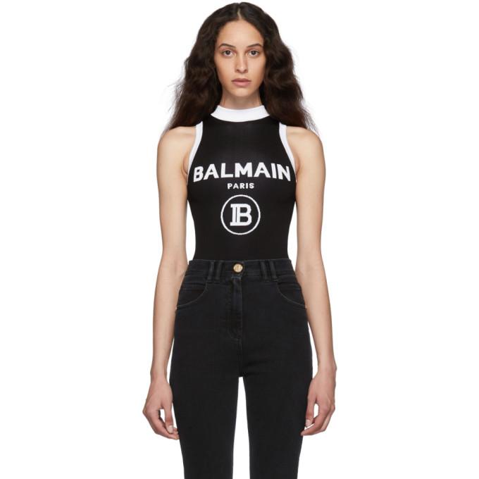 Balmain Body en maille a logo noir