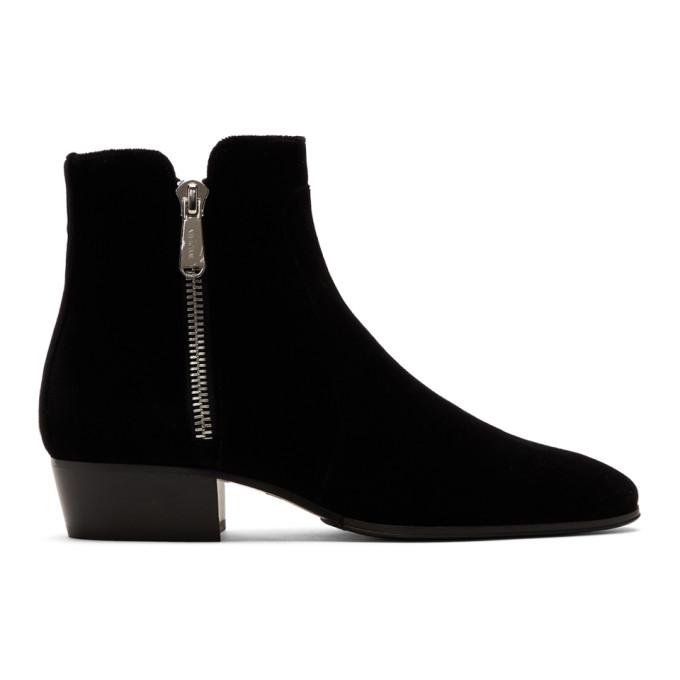 Balmain Black Velvet Mike Boots