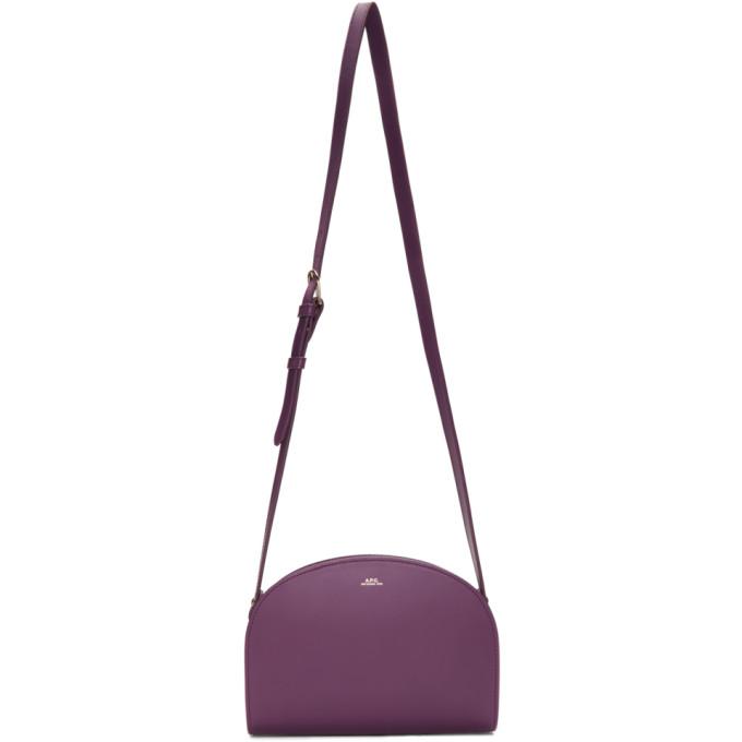 A.P.C. | A.P.C. Purple Half-Moon Bag | Goxip