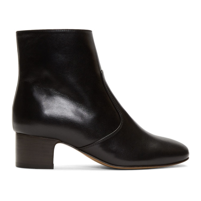 A.P.C. Black Joey Heeled Boots