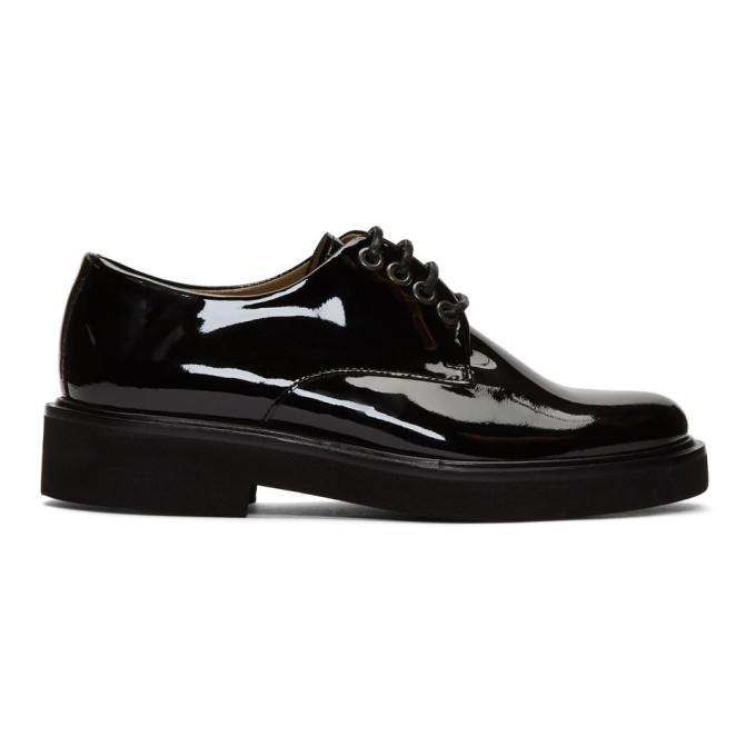A.P.C. Black Patent Autumn Derbys