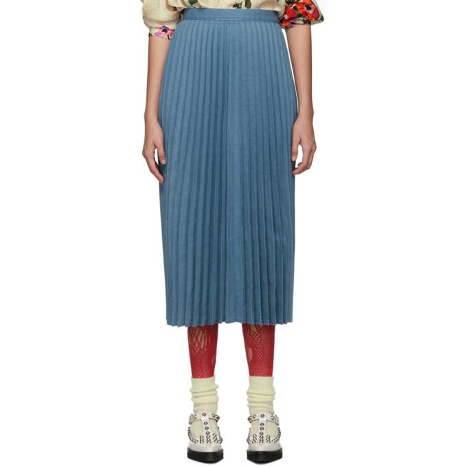 Junya Watanabe Jupe plissee bleue