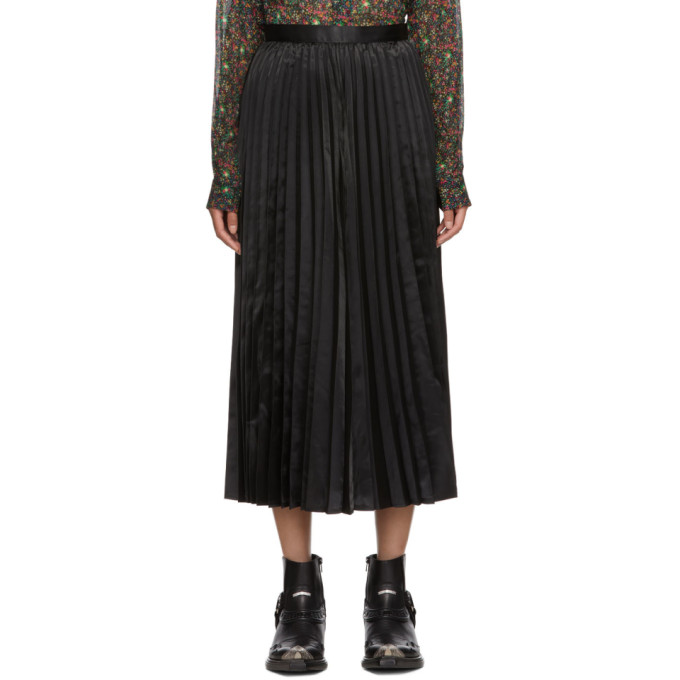 Junya Watanabe Black Pleated Skirt