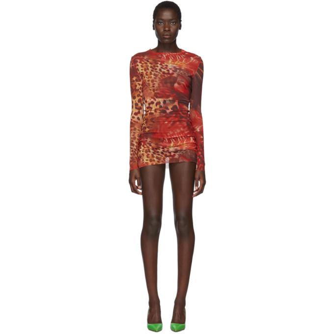 Mowalola Robe en filet orange Skin exclusive a SSENSE