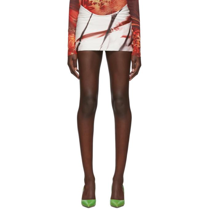 Mowalola Mini-jupe a motif tie-dye blanche exclusive a SSENSE