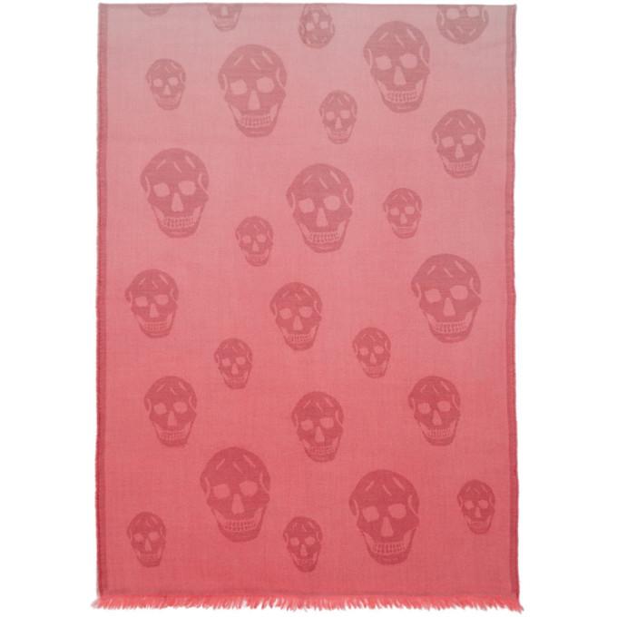 Alexander McQueen Pink Degrade Skull Scarf