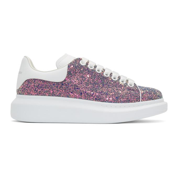 Alexander McQueen Multicolor Shell Glitter Oversized Sneakers