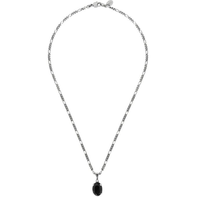 Alexander Mcqueen Silver Oval Necklace
