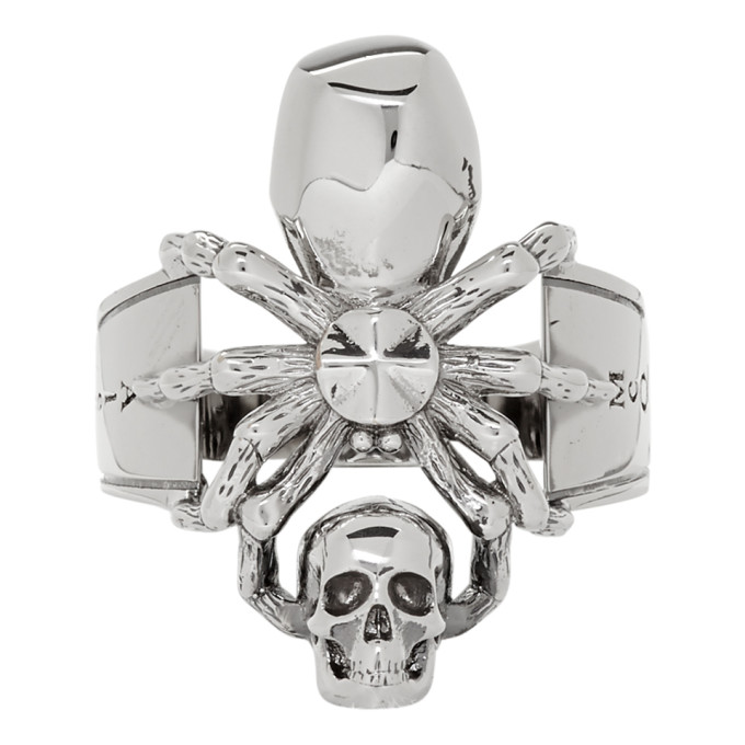 ALEXANDER MCQUEEN   Alexander McQueen Silver Spider Ring   Goxip