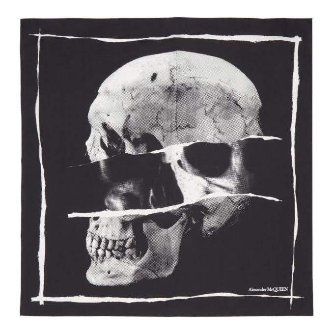 Alexander McQueen Foulard noir Punk Skull