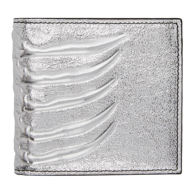 Alexander McQueen Silver Rib Cage Wallet