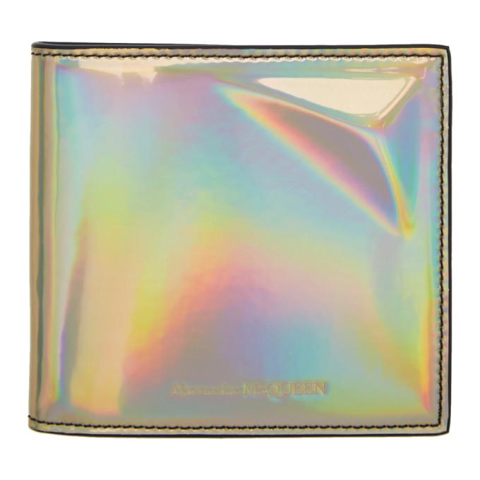 Alexander McQueen Gold Iridescent Wallet