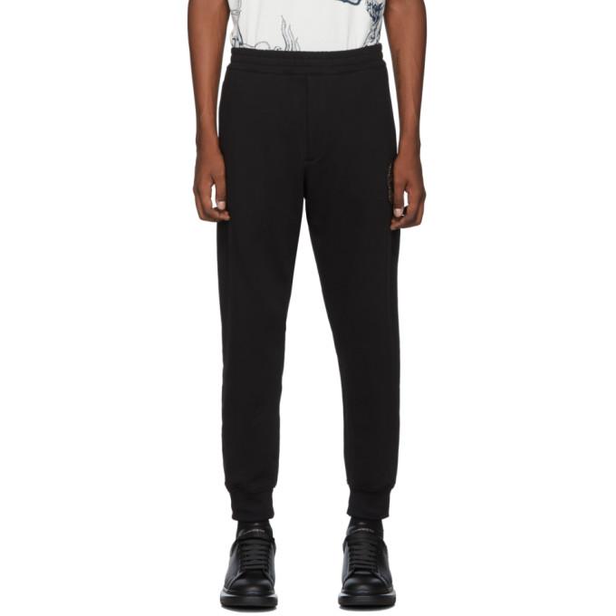 Alexander McQueen Black Organic Loopback Jersey Lounge Pants