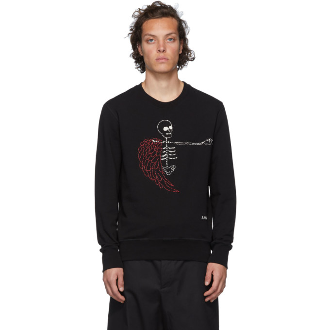 Alexander McQueen Black Winged Skeleton Sweatshirt