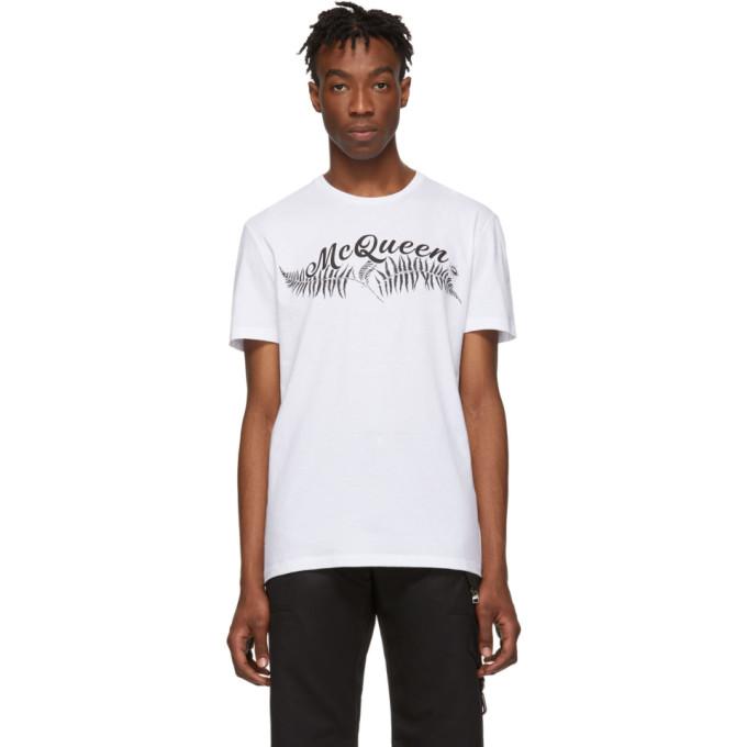Alexander McQueen White Fern T-Shirt