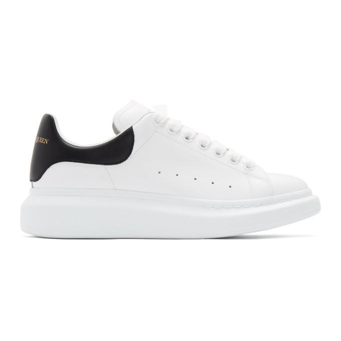 ALEXANDER MCQUEEN | Alexander McQueen White And Black Oversized Sneakers | Goxip