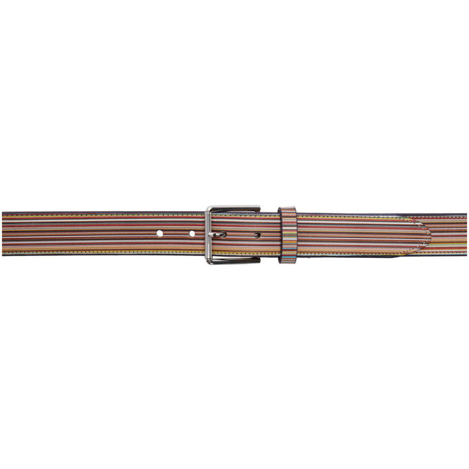 Paul Smith Ceinture multicolore Signature Stripe
