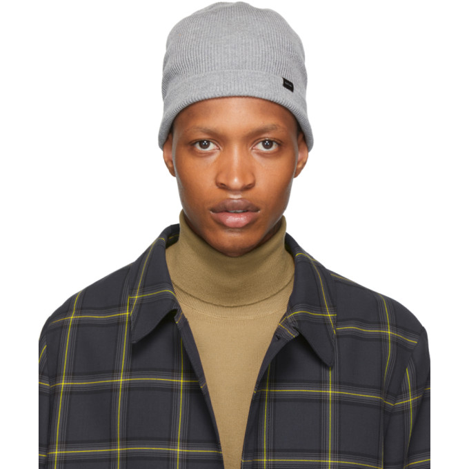 PAUL SMITH | Paul Smith Grey Wool Beanie | Goxip