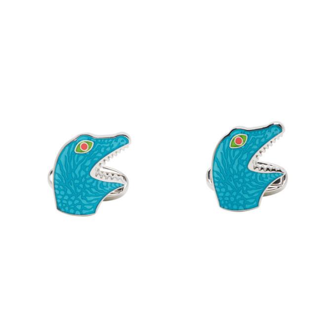 Paul Smith Blue Dinosaur Head Cufflinks