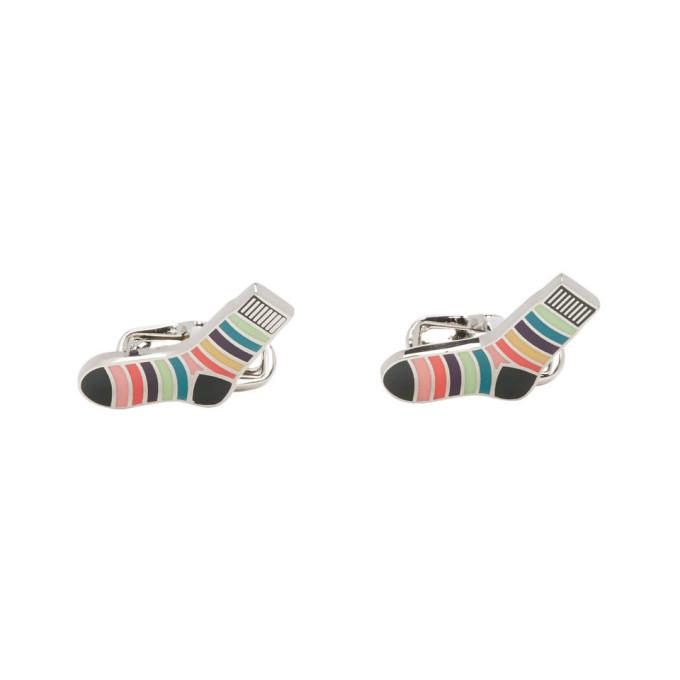 Paul Smith Multicolor Striped Socks Cufflinks