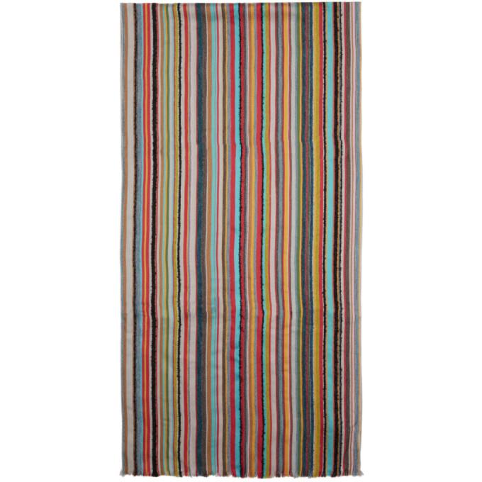 Paul Smith Foulard raye multicolore Textured