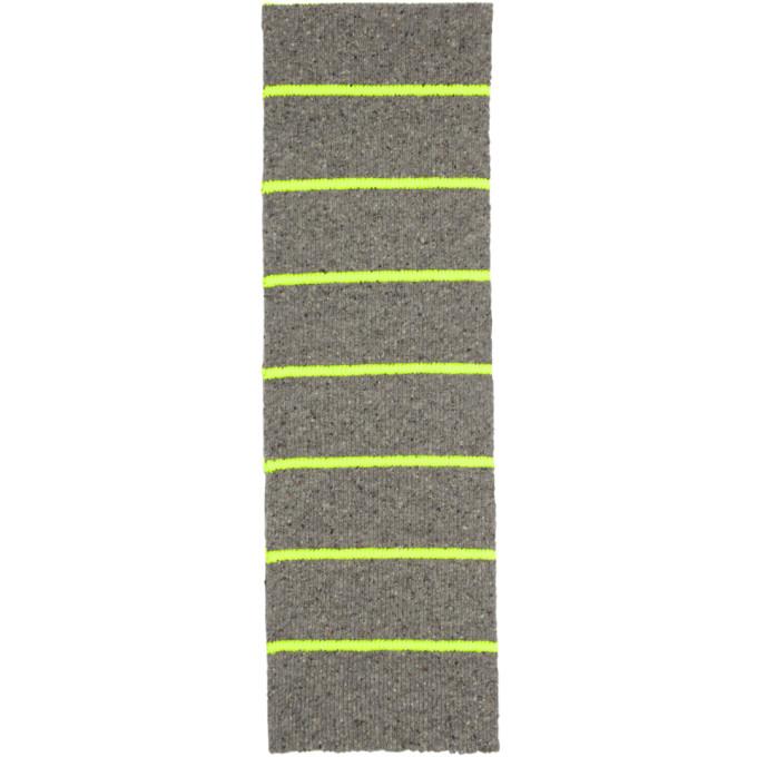 Paul Smith Foulard gris et jaune Neon Neutral