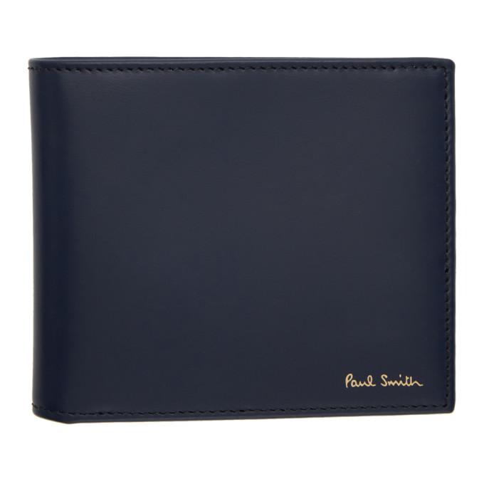 Paul Smith Navy Multistripe Wallet