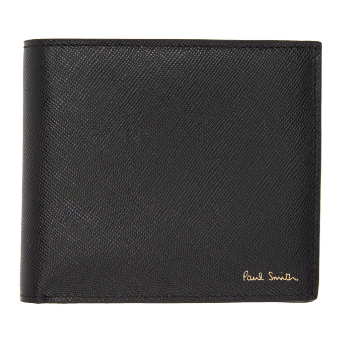 Paul Smith Black Mini Stripe Print Wallet