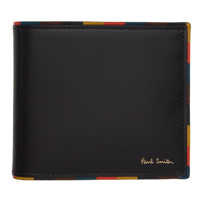 Paul Smith Black Striped Edge Wallet