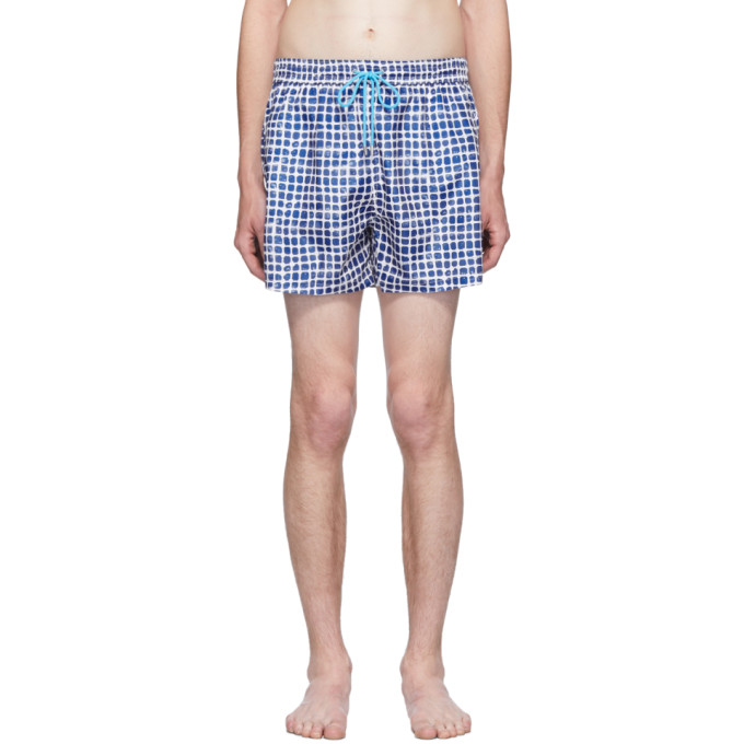 Paul Smith Maillot de bain bleu Block Stamp exclusif a SSENSE