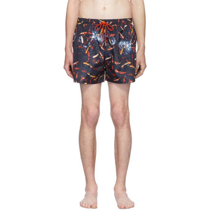 Paul Smith Maillot de bain bleu marine Goldfish exclusif a SSENSE