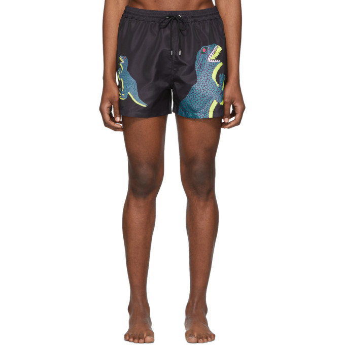 Paul Smith Maillot de bain noir Dino Classic