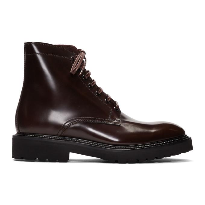 Paul Smith Burgundy Farley Boots
