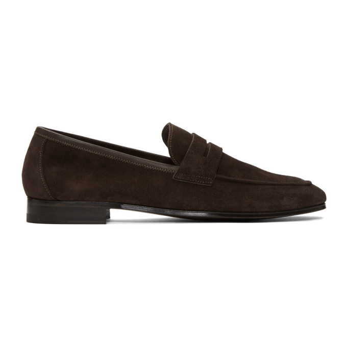 Paul Smith Brown Suede Glynn Penny Loafers