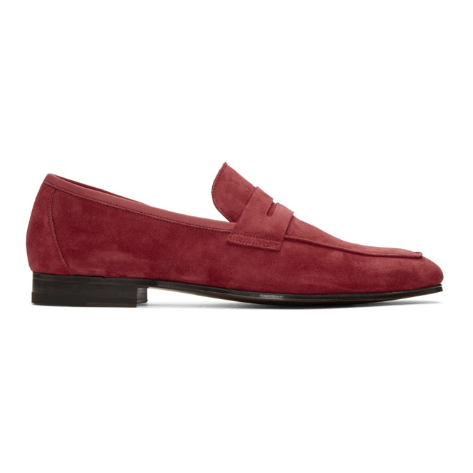 PAUL SMITH | Paul Smith Red Suede Glynn Loafers | Goxip