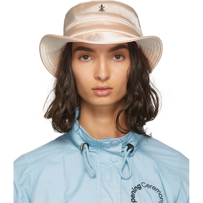 Opening Ceremony Chapeau en satin rose
