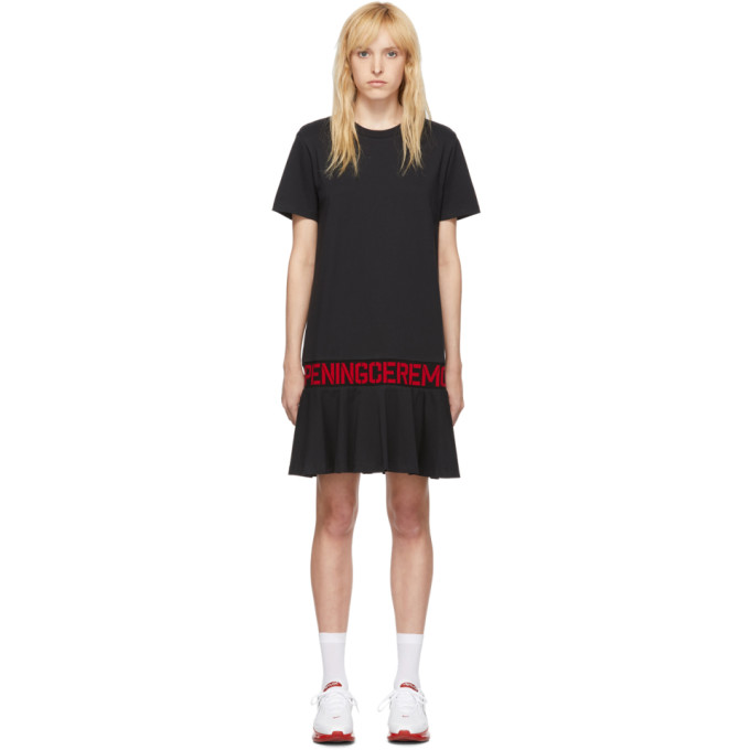 Opening Ceremony Dresses OPENING CEREMONY SSENSE EXCLUSIVE BLACK OC LOGO T-SHIRT DRESS